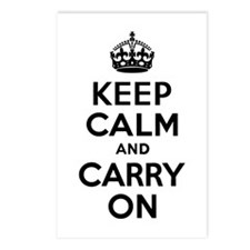 Keep Calm & Carry On Postcards (Package of 8)