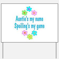 Auntie Yard Sign