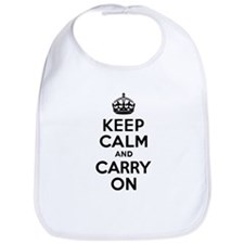 Keep Calm & Carry On Bib