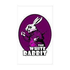 White Rabbit Logo Plum Decal