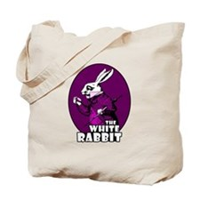White Rabbit Logo Plum Tote Bag