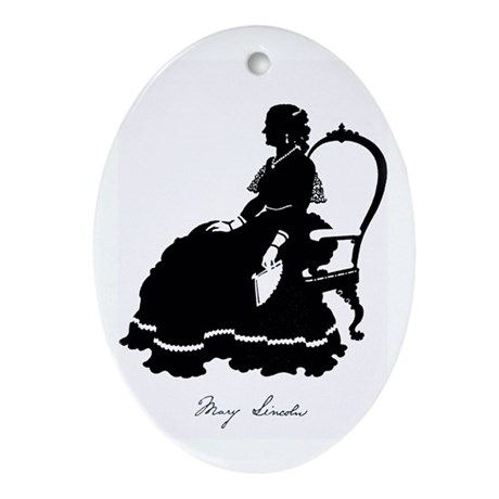 Mary Todd Lincoln Ornament (Oval)