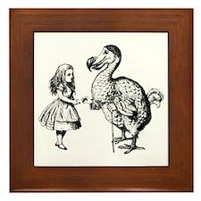 Alice and Dodo Framed Tile