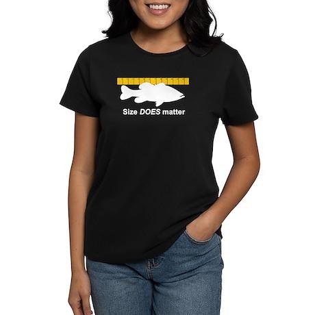 SIZE DOES MATTER Women's Dark T-Shirt