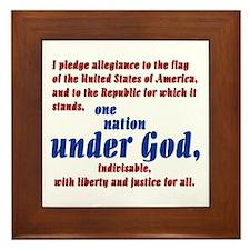 USA under God Framed Tile