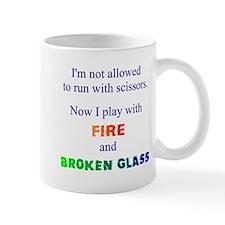 Fire and Broken Glass Mug