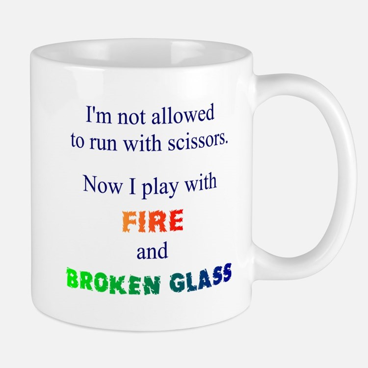 Fire And Broken Glass Mug Mugs