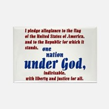 USA under God Rectangle Magnet