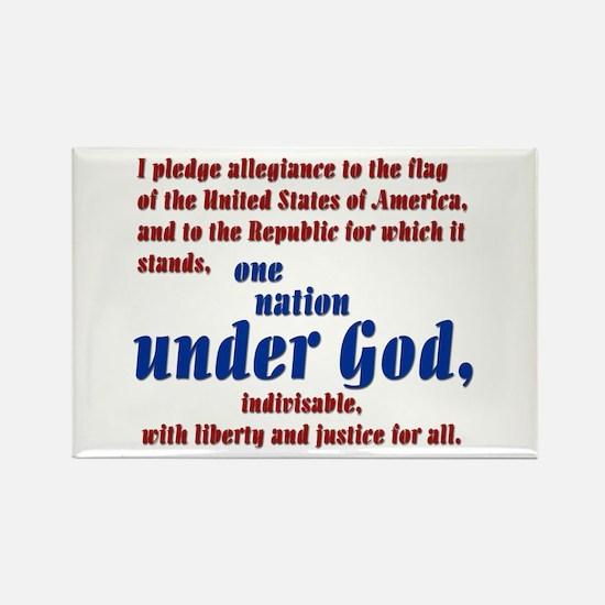 USA under God Rectangle Magnet