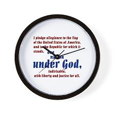 USA under God Wall Clock