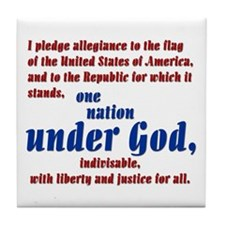 USA under God Tile Coaster