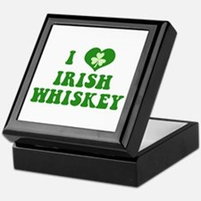 I Love Irish Whiskey Keepsake Box