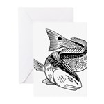 Drum Dragon Greeting Cards (Pk of 20)