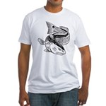 Drum Dragon Fitted T-Shirt