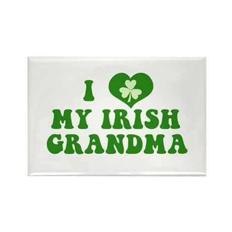 I Love My Irish Grandma Rectangle Magnet