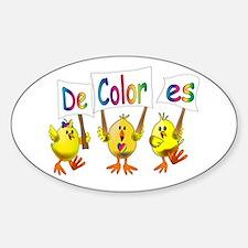Babe Chick Banner Sticker (Oval)