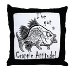 Crappie Attitude Throw Pillow