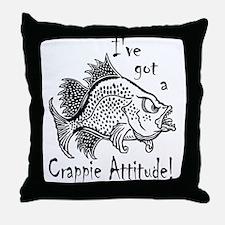 Crappie Attitude Throw Pillow