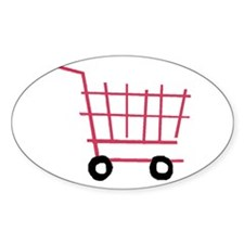 Shopping Cart Oval Decal