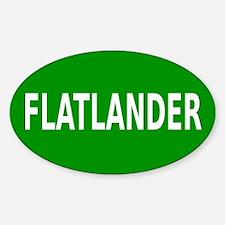 Flatlander (bordered) Decal