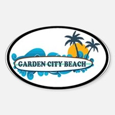 Garden City Beach SC - Surf Design Sticker (Oval)