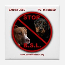 STOP B.S.L. - Tile Coaster