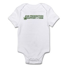 Cute Washington legalized marijuana Infant Bodysuit