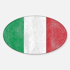 Vintage Italy Flag Sticker (Oval)