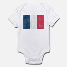 Vintage French Flag Infant Bodysuit