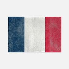 Vintage French Flag Rectangle Magnet