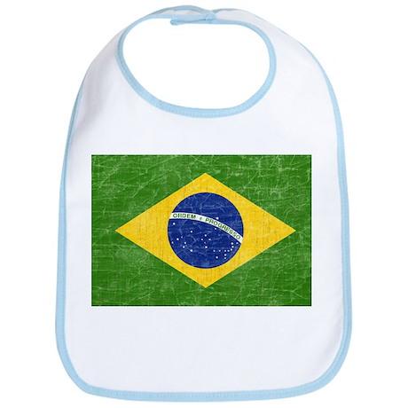 Vintage Brazil Flag Bib