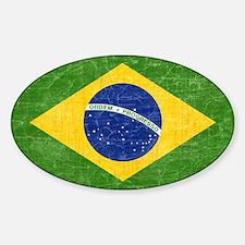 Vintage Brazil Flag Decal