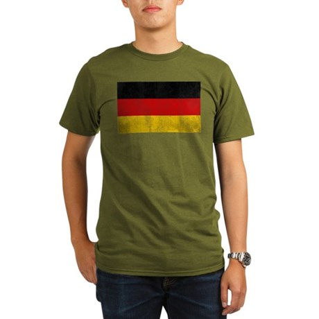 Vintage Germany Flag Organic Men's T-Shirt (dark)