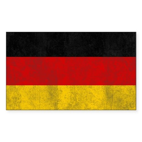 Vintage Germany Flag Sticker (Rectangle)
