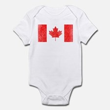 Vintage Canada Flag Infant Bodysuit