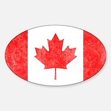 Vintage Canada Flag Sticker (Oval)