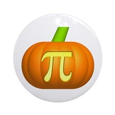 Pumpkin Pi Ornament (Round)