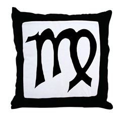 Virgo Sign Gift Gear Throw Pillow