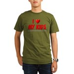 I Love My Kids Organic Men's T-Shirt (dark)
