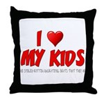 I Love My Kids Throw Pillow