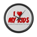 I Love My Kids Large Wall Clock