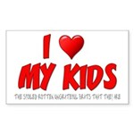 I Love My Kids Sticker (Rectangle 10 pk)