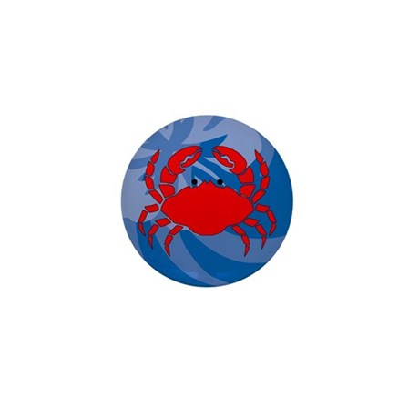 Crab Mini Button (100 pack)