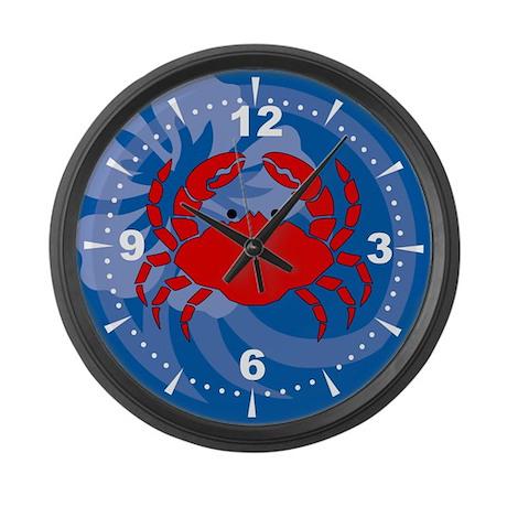Crab Large Wall Clock