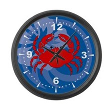 Crab Large Wall Clock
