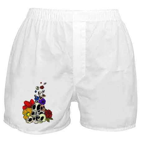 Skulls & Flowers Boxer Shorts