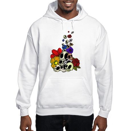 Skulls & Flowers Hooded Sweatshirt