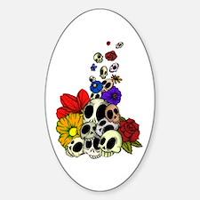 Skulls & Flowers Decal