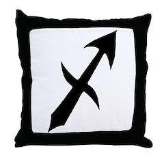 Sagittarius Sign Gift Gear Throw Pillow