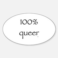 100% Queer Oval Decal